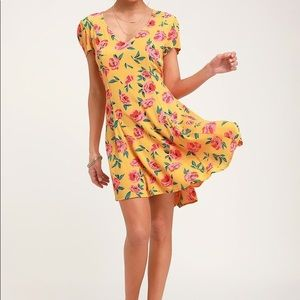 Billabong floral boho skater dress